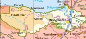 Bridgwater & West Somerset Small Map